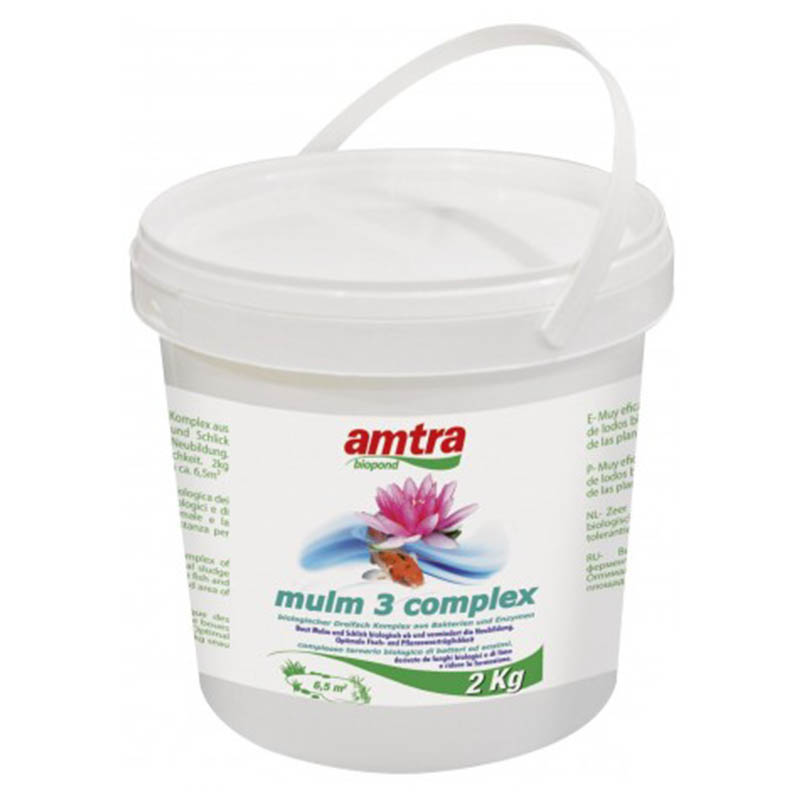 Amtra biopond mulm 3 complex 2kg for Alghe laghetto