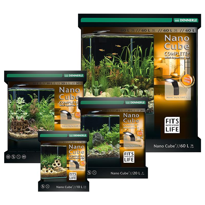 dennerle nano cube complete plus style led mini acquario. Black Bedroom Furniture Sets. Home Design Ideas