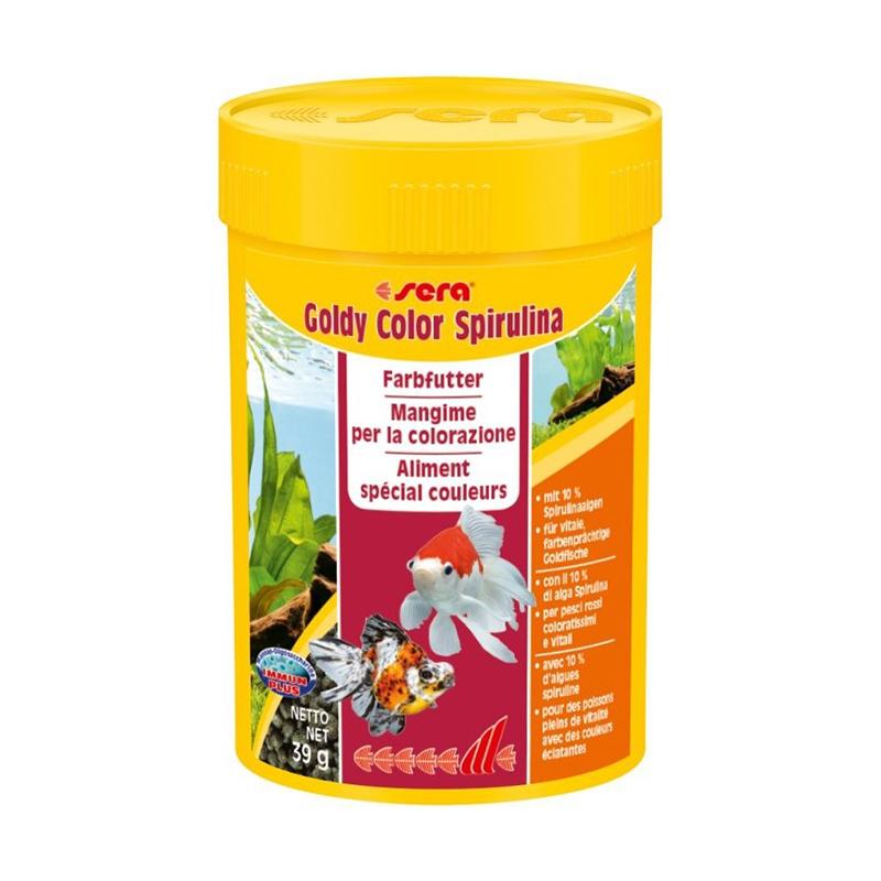 Sera goldy color spirulina 100ml 39gr granuli per pesci for Pesci rossi prezzo