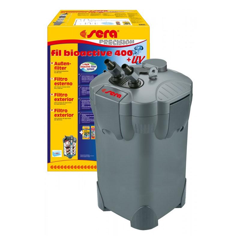 Sera fil bioactive uv 400 filtro esterno con lampada uv for Sera acquari