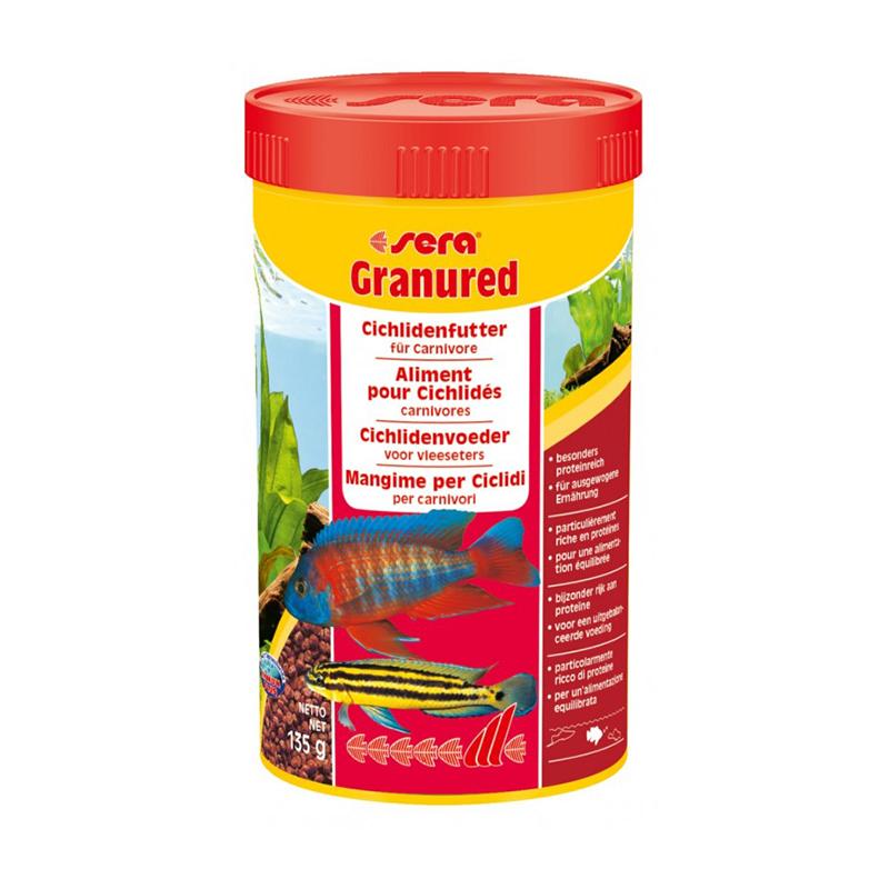 Sera granured confezione da 250 ml 116gr alimento for Sera acquari