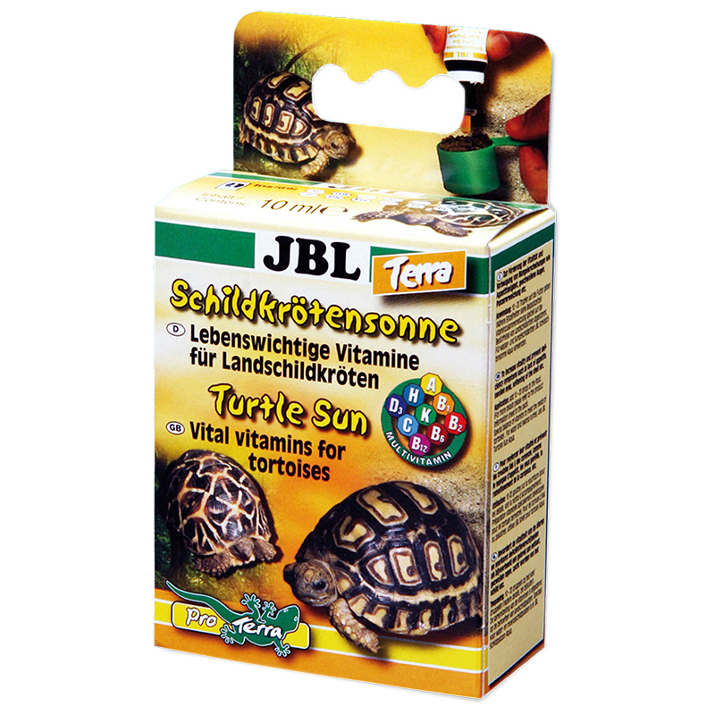 Jbl turtle sun terra 10ml vitamine per tartarughe for Accessori terrario tartarughe