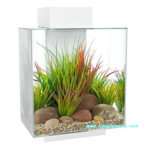 Askoll edge led bianco capacit 46 litri aquariumline for Acquario bianco usato