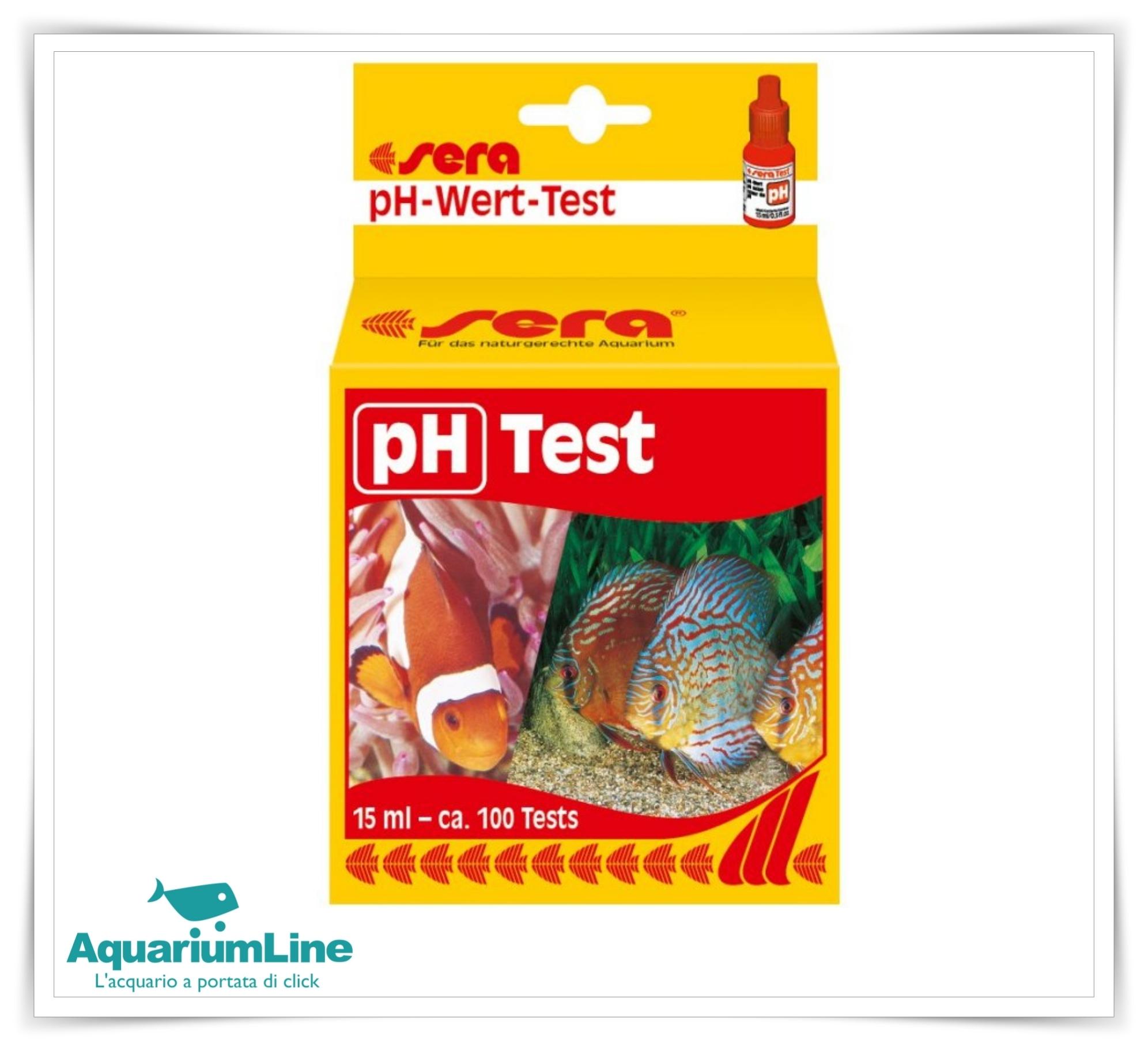 Sera ph test per 100 misurazioni for Sera acquari