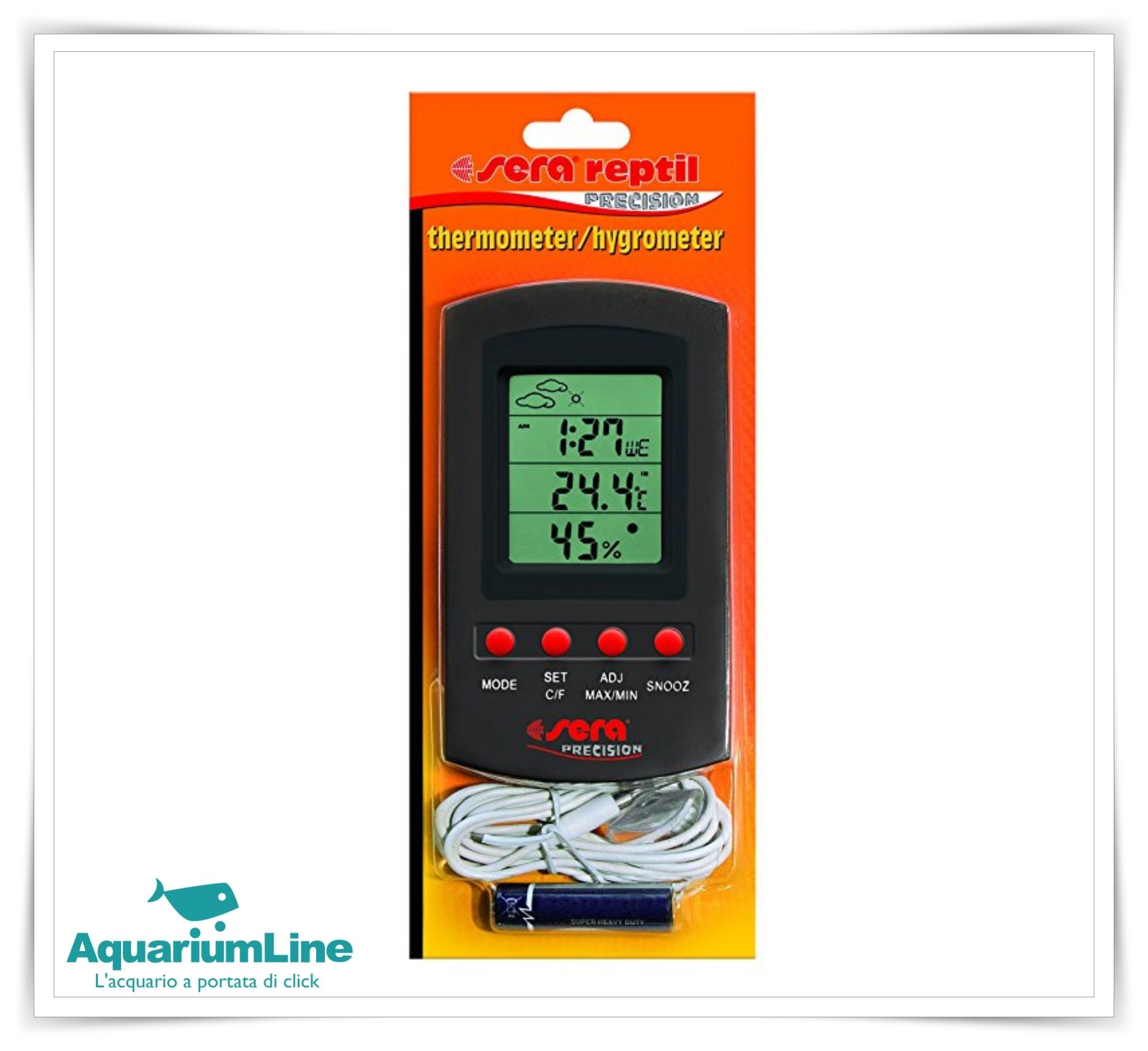 Sera termometro hygrometro negozio for Temperatura acquario
