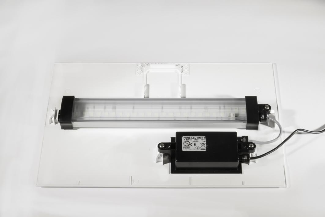 Askoll ricambio coperchio completo per pure led xl bianco for Acquario bianco usato