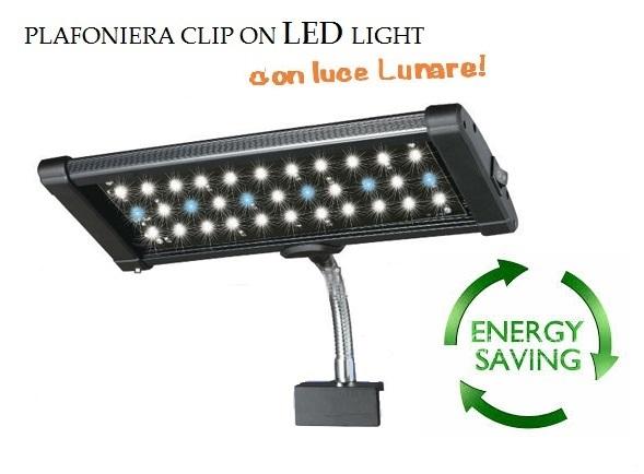 Aql plafoniera super bright clip on led for Acquari nuovi in offerta