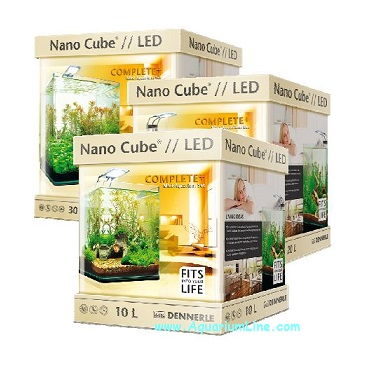 dennerle nano cube complete plus led 10l negozio acquari. Black Bedroom Furniture Sets. Home Design Ideas
