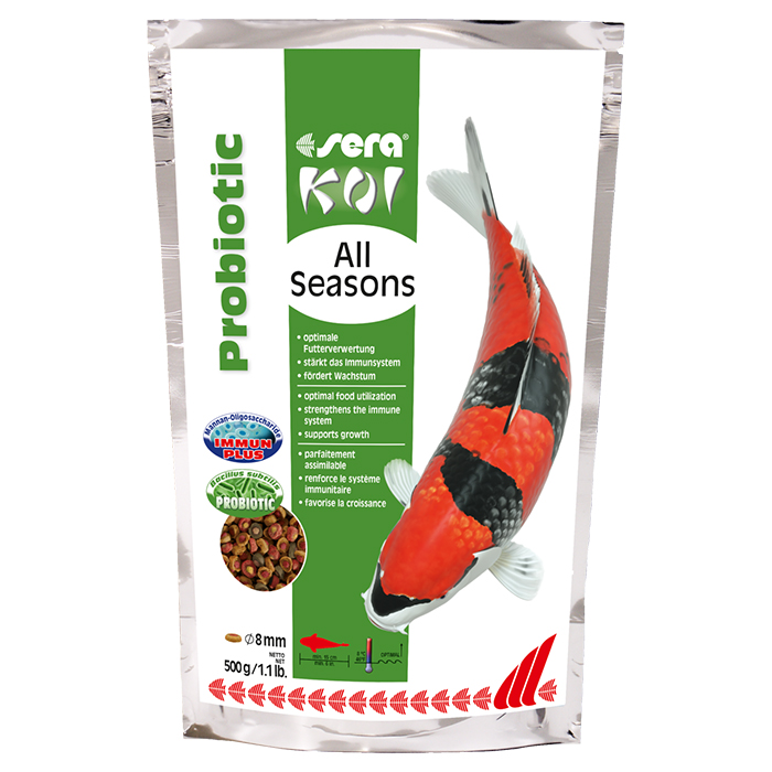 Sera koi all seasons probiotic for Mangime carpe koi