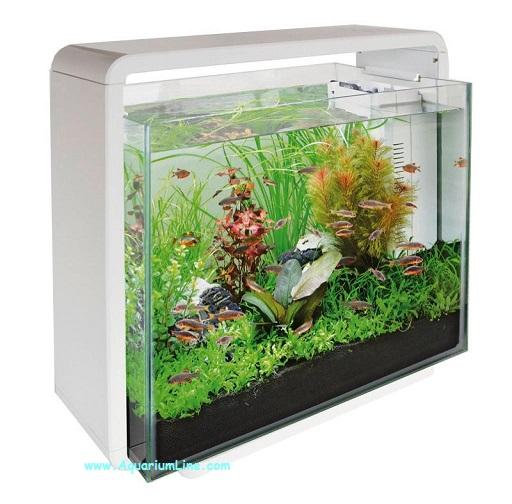 Superfish home 40 colore bianco acquario con for Acquario bianco usato