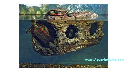 Zoomed floating turtle log 30x15x15cm tronco for Acquario per tartarughe acquatiche